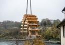 Altes Mühlrad am Rheinfall wieder HÜBSCHER