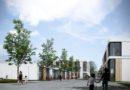 Weit überspannende Holzelemente für Schwimmhalle in Cents