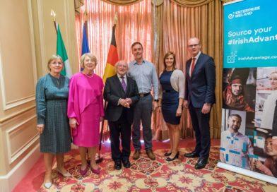 Präsident Michael D. Higgins würdigt in Berlin Innovationskraft irischer Konzerne