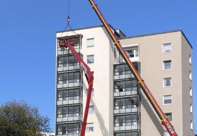 Hochhaus-Trio erhält neue Balkone